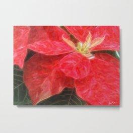 Mottled Red Poinsettia 1 Ephemeral Vivid Oil Metal Print