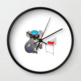 Koalalfied to Party Funny Drinking T-shirt Wall Clock