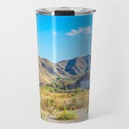 Beautiful mountain scenery desert in Andalucia, Spain Travel Mug
