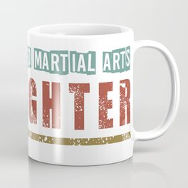 Mixed Martial Arts With Grunge Skull Coffee Mug