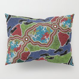 Aboriginal Art Authentic - Walking the Land Pillow Sham