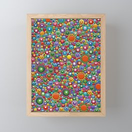 Colorful dotted Canvas 2 by Mandalaole- Spring Framed Mini Art Print