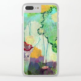 i am the meadow in the forest Clear iPhone Case