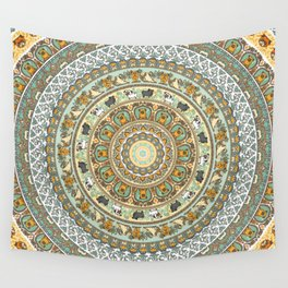 Pug Yoga Medallion Wall Tapestry