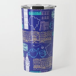 Queen and Country - Blue Travel Mug