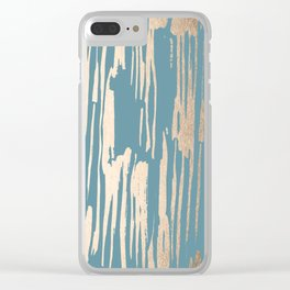 Bamboo Bronze Gold 2 Clear iPhone Case