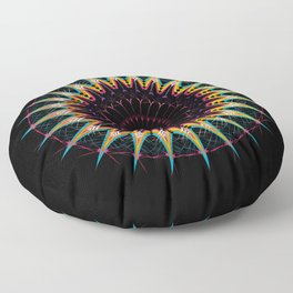 Futuristic Zen Mandala Floor Pillow
