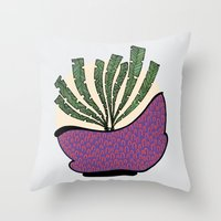 weed Throw Pillows featuring weed by Aleksandra Salevic