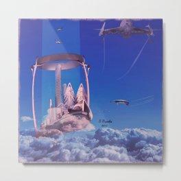 The Floating City- La ville flottante Metal Print