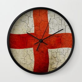 Vintage England flag Wall Clock