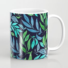Loose Leaves - cool colors Coffee Mug