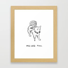 Peg leg Paul Framed Art Print