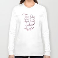 grantaire Long Sleeve T-shirts featuring Holding Hands by Kai Batter