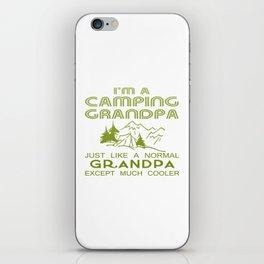 Camping Grandpa iPhone Skin