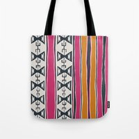 cleveland Tote Bags featuring Cleveland 4 by Little Brave Heart Shop
