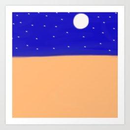 A Clear Desert Night Art Print