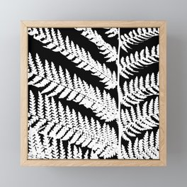 Monochrome Fern Framed Mini Art Print