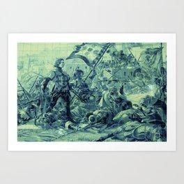 Portuguese history tile art Art Print