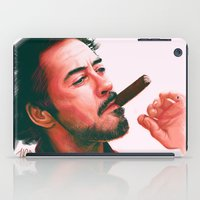 actor iPad Cases featuring Mr Downey, Jr. by Thubakabra