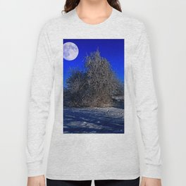 snow and moon Long Sleeve T-shirt
