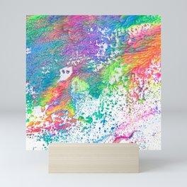 Rainbow Paint Splatter V2 Mini Art Print