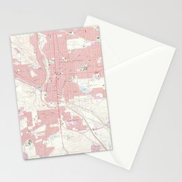 Vintage Map of Colorado Springs CO (1961) 2 Stationery Cards