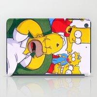 simpsons iPad Cases featuring Simpsons by Brian David