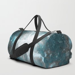 Orion Nebula Teal Gray Galaxy Duffle Bag