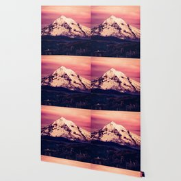 Mt Hood Mountain with Snow Wallpaper