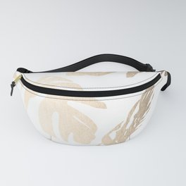 Simply Tropical Palm Leaves in White Gold Sands Fanny Pack