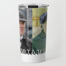 Life Imitates Art Travel Mug