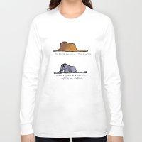 le petit prince Long Sleeve T-shirts featuring Monoprinting Le Petit Prince by Devin Sullivan