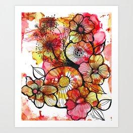 Original Artwork: Rusty Garden Art Print