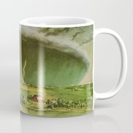 The Line Storm - Thunder and Lightning on the American Plains by John Steuart Curry Coffee Mug