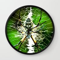 returns Wall Clocks featuring Spidey Returns by TexasArt