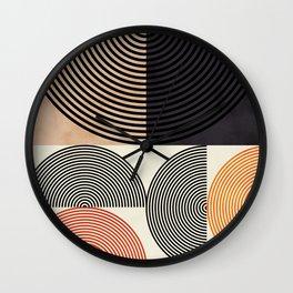 lines & shapes III - abstract geometric Wall Clock