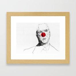 leslie nielsen Framed Art Print