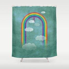 al settimo cielo Shower Curtain
