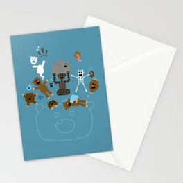 Crazy MonkeyTeddyBears Stationery Cards