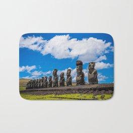 Moai Monolithics on Easter Island Bath Mat