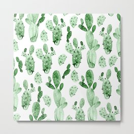 Green Cactus Field - Large Metal Print