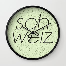 Schweiz//Pistachio   Wall Clock