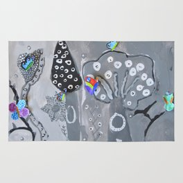Paper Painting Forest #society6 Rug