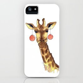 Girafe de Noël iPhone Case