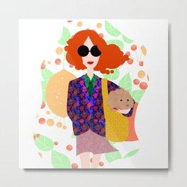 Girl with the Dog Metal Print
