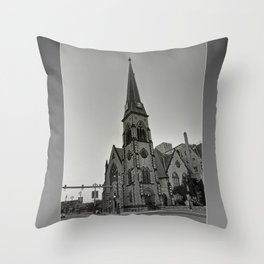 Detroit Architecture 1 Throw Pillow