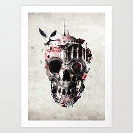 Istanbul Skull Art Print
