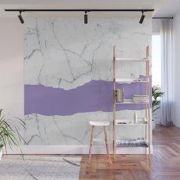 Elegant violet gray white modern marble pattern Wall Mural
