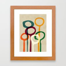 Blowing bubbles Framed Art Print
