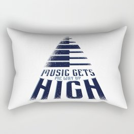 Music makes me high Rectangular Pillow
